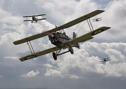 Biplane Prints - Hunting Pack Print by Pat Speirs