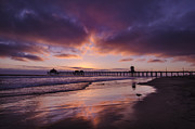 Layer Prints - Huntington Beach California Print by Sean Foster