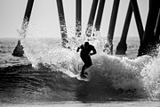 Surf Lifestyle Posters - Huntington beach Surfer 2 Poster by Pierre Leclerc