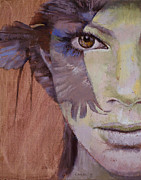 Hawk Paintings - Huntress by Michael Creese