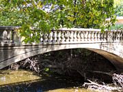 Clay Center Prints - Huntress Park Bridge Print by Tracy Salava