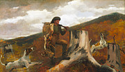 Huntsman Art - Huntsman and Dog by Winslow Homer