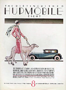 Vintage Automobiles Art - Hupmobile  1926 1920s Usa Cc Cars Dogs by The Advertising Archives