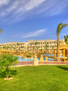 Pool Break Prints - Hurghada Hotel 02 Print by Antony McAulay