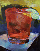 New Orleans Oil Paintings - Hurricane Cocktail by Michael Creese