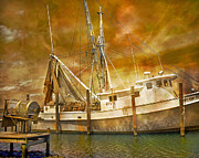 Trawler Metal Prints - Hurricane Eve Metal Print by Betsy A Cutler East Coast Barrier Islands