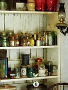 Pantries Photos - Hurricane Lamp in Pantry by Susan Savad