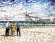 Jetstar Roller Coaster Photographs Framed Prints - Hurricane Sandy First Responders Framed Print by Jessica Cirz