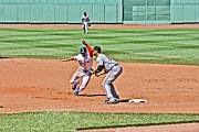Red Sox Framed Prints - Hurry Back Jacoby Framed Print by Dennis Coates