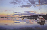 Cape Cod Paintings - Hurry Sundown Cape Cod by OMalley Keyes