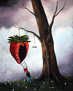 Strawberry Prints Framed Prints - Hurry The Storm Is Coming by Shawna Erback Framed Print by Shawna Erback