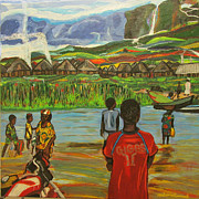 Liverpool Football Prints - Hurry Up With That Boat    Print by Mudiama Kammoh