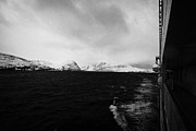 Observation Photos - Hurtigruten Passenger Ship Sailing Through Fjords During Winter Norway Europe by Joe Fox