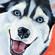 Siberian Husky Framed Prints - Husky Framed Print by Melissa Smith