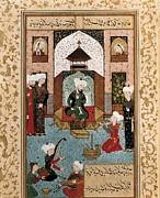 1506 Posters - Hussein Baikara 1469-1506. The Sultan Poster by Everett