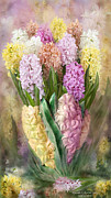 Vase Mixed Media Posters - Hyacinth In Hyacinth Vase 2 Poster by Carol Cavalaris