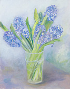 Backdrop Paintings - Hyacinths by Sophia Elliot