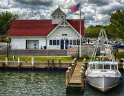 Coastguard Photo Originals - Hyannis Coastguard HDR01 by Jack Torcello