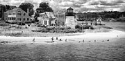Topaz Originals - Hyannis Light Migrating Geese BW by Jack Torcello