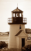 Pictures Of Lighthouses Prints - Hyannis Lighthouse Repleca Print by Skip Willits