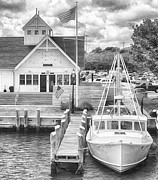 Coastguard Photo Originals - Hyannis the Coastguards Cutter by Jack Torcello