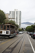 Alcatraz Metal Prints - Hyde Street Cable Car Metal Print by David Bearden