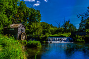 Historic Mill Framed Prints - Hydes Mill Framed Print by Randy Scherkenbach