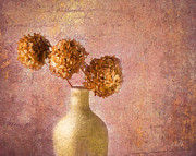 Floral Still Life Mixed Media Prints - Hydrangea Print by Michael Petrizzo