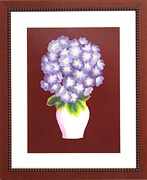 Original  By Artist Paintings - Hydrangea by Ron Davidson