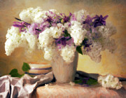 Woman Photos - Hydrangea Summer Display by Zeana Romanovna