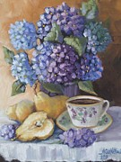 Sliced Originals - Hydrangeas From A Friend by Mikki Carnevale