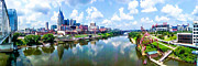 Nashville Skyline Photos - Hyper Real Nashville by Cilene Bosch