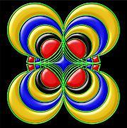 Hypnotic Flower Print by Anastasiya Malakhova