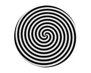 Hypnotic Spiral Print by Borislav Marinic