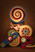 Backdrop Digital Art - Hypnotic Woman 1 by Jeff  Gettis