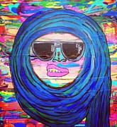 Abstract Hijab Paintings - I Aint Even Worried About it by LaRita Dixon