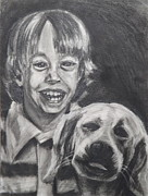 Self Portraits Art - I Always Felt Like A Boy With A Dog by Jon David Gemma