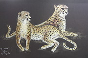 Cheetah Pastels - I am a Cheetah by Nyoman Anjani