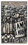 Civil Rights Paintings - I am a man by Ricardo Levins Morales