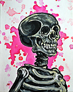 Human Skeleton Paintings - I Am Dead Inside  by Ryno Worm  Tattoos