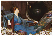 Sick Painting Prints - I am Half-sick of Shadows said the Lady of Shallot Print by Sidney Harold Meteyard