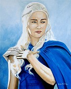 Game Of Thrones Framed Prints - I am Khaleesi Framed Print by Al  Molina