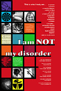 Bipolar Digital Art Posters - I Am NOT My Disorder Poster by Chuck Mountain