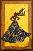 Quilting Tapestries - Textiles Posters - I Am Not My Hair Poster by Aisha Lumumba