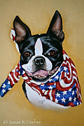 Patriotic Pastels Framed Prints - I Am Sam Framed Print by Susan Herber