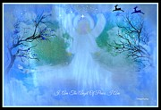 Angel Blues  Metal Prints - I Am The Angel Of Peace I am Metal Print by Sherri  Of Palm Springs