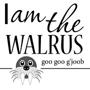 Beatles Digital Art - I am the Walrus Word Art by Mary Jane Cannon