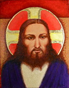 Jesus Christ Icon Originals - I Am With You Always by Karen Roncari