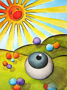 Surrealism Framed Prints - I Can See Clearly Now Framed Print by Oiyee  At Oystudio