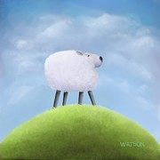 Looking Out Side Prints - I can see your house from here - sheeps hill Print by Marlene Watson